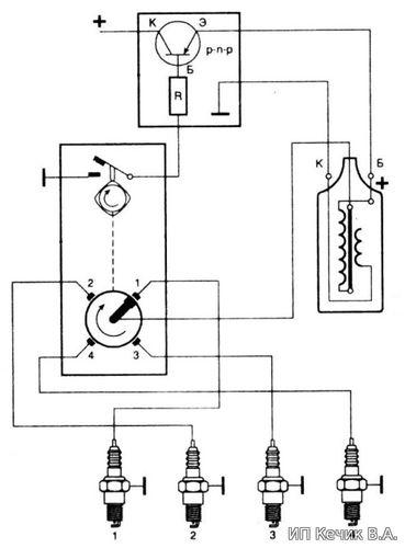 Контактно-транзисторная система зажигания устройство