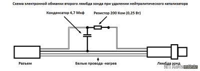 Схема обманки лямбда зонда
