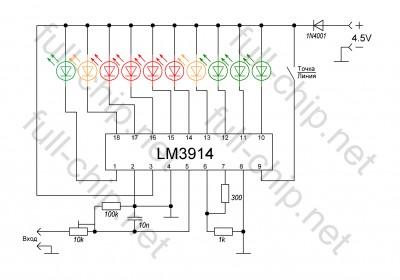 Схема тестера для проверки кислородного датчика